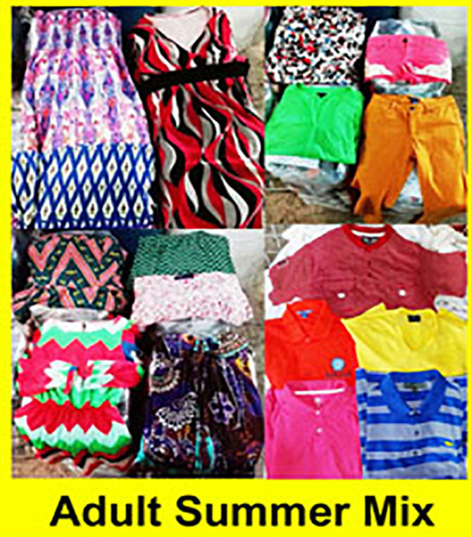 Adult summer mix clothing, summer clothes, used clothing