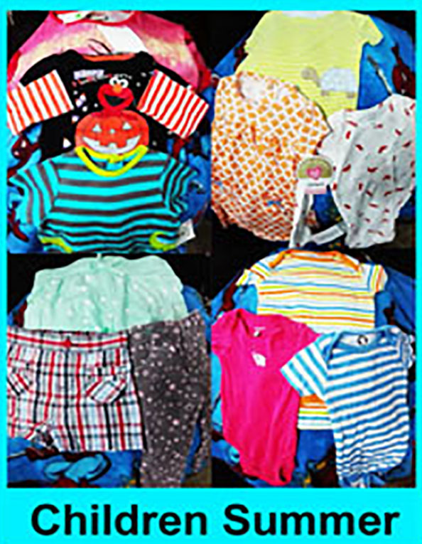 Children Used clothing, Child Summer clothes, Mix clothes