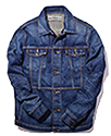 Used clothing clothes Jacket coat leather jean classic trend